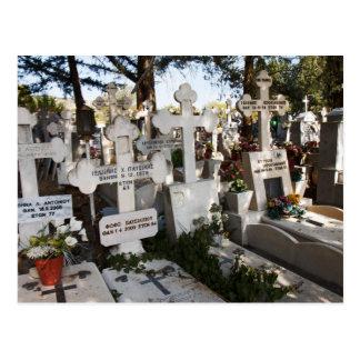 Greek Cemetery Postcard