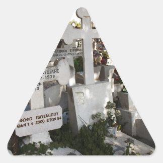 Greek Cemetery Triangle Sticker