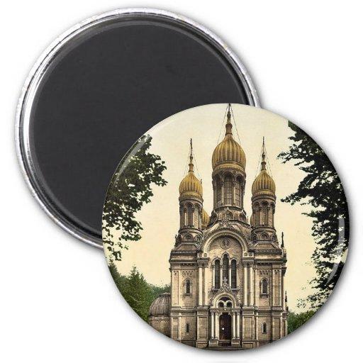Greek Chapel, Wiesbaden, Hesse-Nassau, Germany cla Magnets