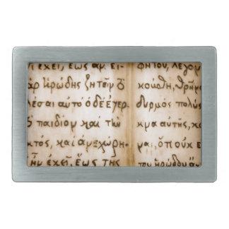 Greek Characters Belt Buckle