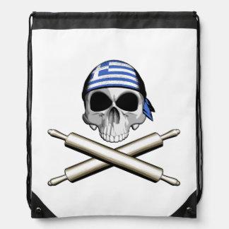 Greek Chef 3 Drawstring Bag