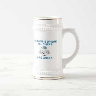 Greek Chefs Beer Stein