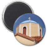 Greek church 2 inch round magnet