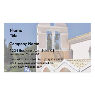 Greek Church In A Summer Day Double-Sided Standard Business Cards (Pack Of 100)