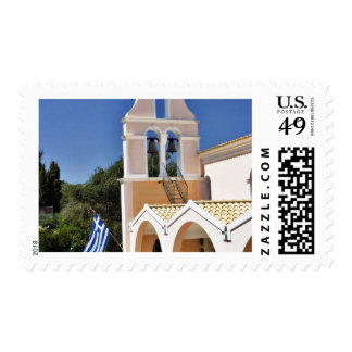 Greek Church In A Summer Day Postage