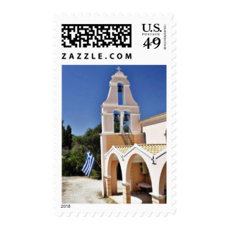 Greek Church In A Summer Day Postage Stamps