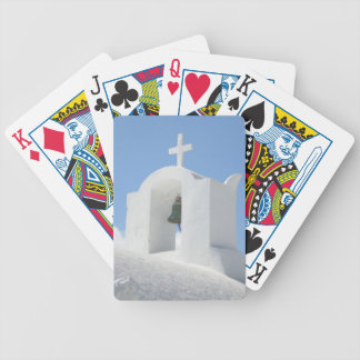 Greek Church in Santorini Bicycle Playing Cards