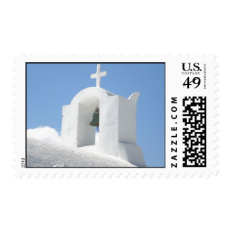Greek Church in Santorini Postage Stamps