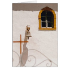 Greek Church With Cross And Bell Christmas Card at Zazzle