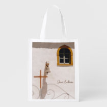 Greek Church With Cross and Bell Grocery Bag at Zazzle