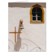 Greek Church With Cross and Bell on a BIG Card at Zazzle