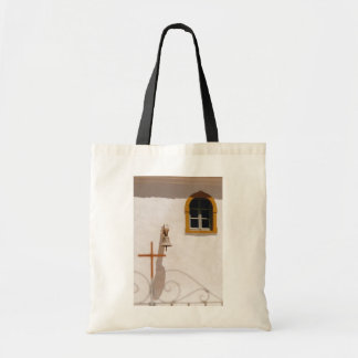 Greek Church With Cross and Bell Paxos Canvas Bag
