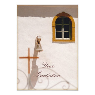 Greek Church With Cross and Bell Paxos Card