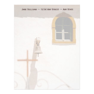 Greek Church With Cross And Bell Paxos Letterhead at Zazzle