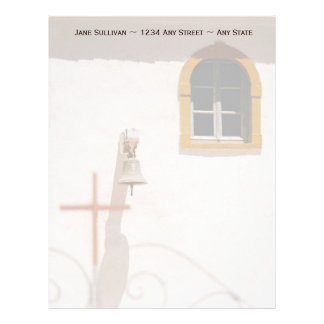 Greek Church With Cross and Bell Paxos Letterhead