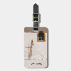 Greek Church With Cross And Bell Paxos Luggage Tag at Zazzle