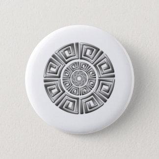 Greek Circle Motif Pinback Button