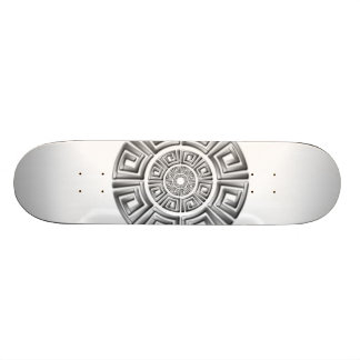 Greek Circle Motif Skateboard