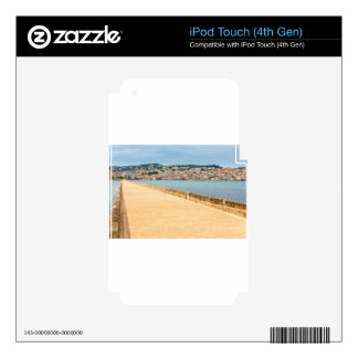 Greek City Port Argostoli with road on bridge Decals For iPod Touch 4G