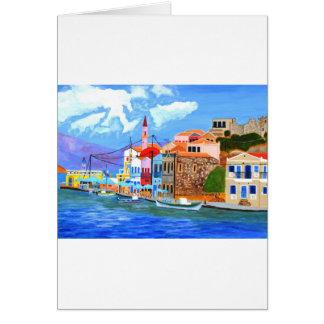 Greek coast greeting cards