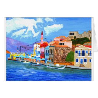 Greek coast greeting card