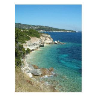 Greek Coastline II Postcard