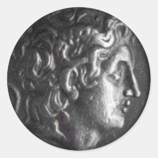 Greek Coin Classic Round Sticker