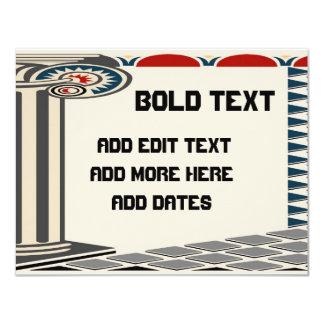 Greek Column, Bold Text, Card