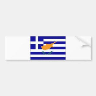 Greek Cyprus Flag Bumper Sticker