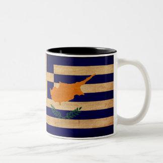 Greek Cyprus Flag Mugs