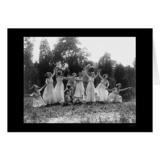 Greek Dance Group in Washington DC 1924 Greeting Card