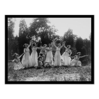 Greek Dance Group in Washington, DC 1924 Poster