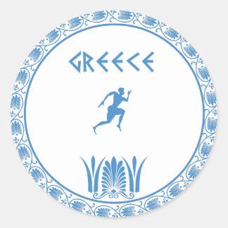 Greek dish classic round sticker