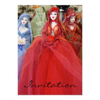 Greek Doll Souvenir  Invitation