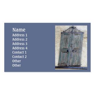 Greek Door Standard Double-Sided Standard Business Cards (Pack Of 100)