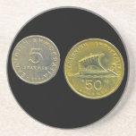 Greek Drachma Coins Coasters
