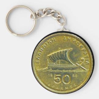 Greek Drachma Coins Key Chains