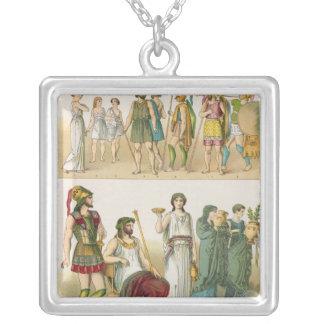 Greek Dress, from 'Trachten der Voelker', 1864 Personalized Necklace