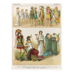 Greek Dress, from 'Trachten der Voelker', 1864 Postcard