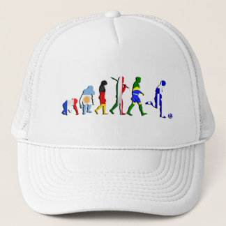 Greek evolution of soccer football gifts and gear trucker hat