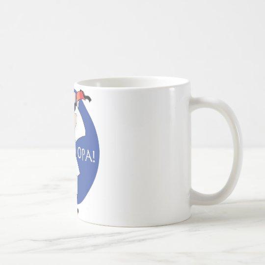 Greek Evzone dancing with Flag OPA! Coffee Mug