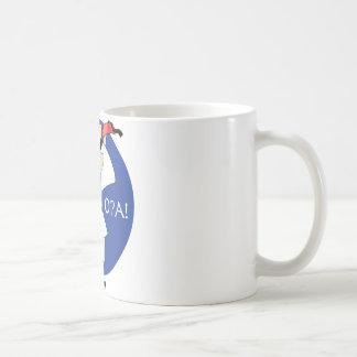 Greek Evzone dancing with Flag OPA! Classic White Coffee Mug