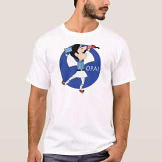 Greek Evzone dancing with Flag OPA! T-Shirt
