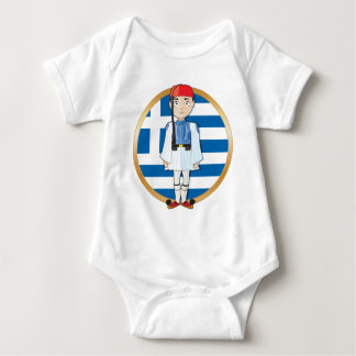 Greek Evzone with Flag Infant Creeper