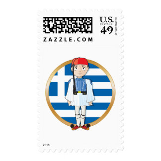 Greek Evzone with Flag Stamps