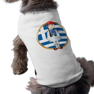 Greek Evzone with Flag Shirt