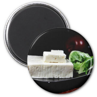 Greek Feta Cheese 2 Inch Round Magnet