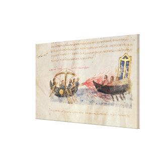 Greek fire (vellum) canvas print