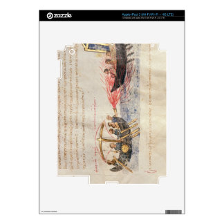 Greek fire (vellum) decals for iPad 3