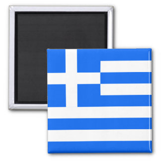 Greek Flag 2 Inch Square Magnet